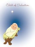 Bebé Jesús en el pesebre Fotografía de archivo libre de regalías