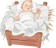 Bebé Jesus Asleep stock de ilustración