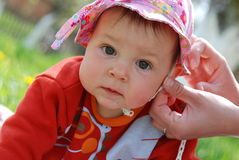 Bebé lindo fotografía de archivo libre de regalías