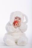 Bebé lindo con el traje del conejo Fotos de archivo libres de regalías