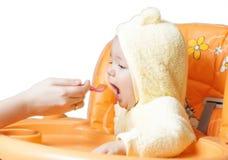 Bebé lindo de alimentación 4 Fotografía de archivo