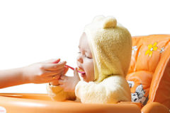 Bebé lindo de alimentación 9 Fotos de archivo
