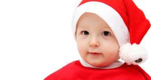 Bebé lindo de santa Imágenes de archivo libres de regalías