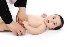 Bebé lindo descubierto aislado Fotografía de archivo libre de regalías