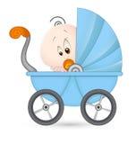 Bebé lindo en cochecito de bebé Fotografía de archivo