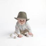Bebé lindo en sombrero fotografía de archivo