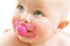 Bebé lindo sobre el fondo blanco Imagen de archivo libre de regalías