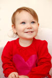 Bebé lindo sonriente hermoso fotografía de archivo