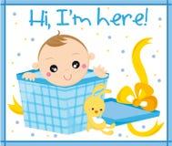 Bebé llevado Foto de archivo libre de regalías