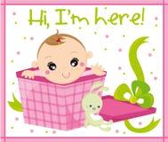 Bebé llevado Fotografía de archivo