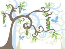 Bebé mágico da árvore em um vagem ilustração do vetor