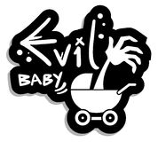 Bebé malvado Imágenes de archivo libres de regalías