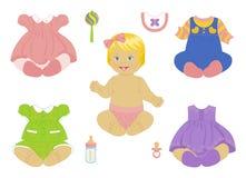 Bebé-muchacha rubia Foto de archivo