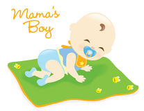 Bebé na cobertura Fotografia de Stock Royalty Free