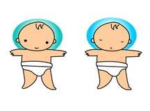 Bebé natural Ilustración del Vector