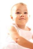 Bebé no fundo branco Fotografia de Stock Royalty Free