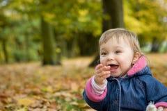 Bebé no parque Imagem de Stock Royalty Free