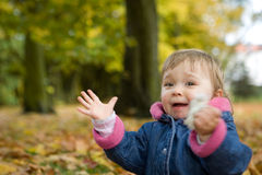 Bebé no parque Fotografia de Stock