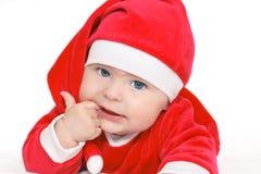 Bebé Papá Noel Imagenes de archivo