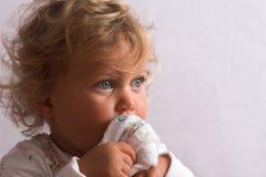 Bebé pequeno doce Imagem de Stock Royalty Free