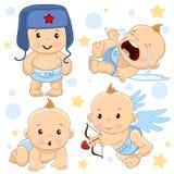 Bebé 1 porción stock de ilustración