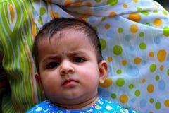 Bebé preocupante Imágenes de archivo libres de regalías