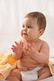 Bebé que aplaude Foto de archivo libre de regalías