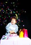 Bebé que celebra cumpleaños Fotografía de archivo