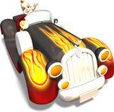 Bebé que conduce un coche stock de ilustración