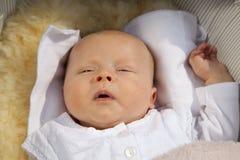 Bebé que despierta Fotos de archivo