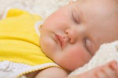 Bebé que duerme con Imagen de archivo libre de regalías