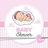 Bebé que duerme en la nube libre illustration