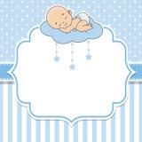 Bebé que duerme en la nube stock de ilustración