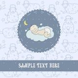 Bebé que duerme en una nube Fotografía de archivo libre de regalías