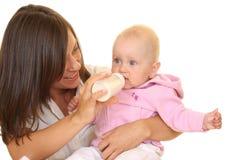 Bebé que introduce Fotografía de archivo