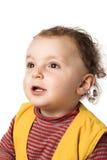Bebé que olha acima Imagem de Stock Royalty Free