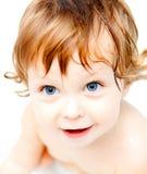 Bebé que toma un baño Fotografía de archivo