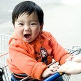 Bebé reído Fotografía de archivo