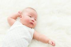 Bebé recién nacido asiático imágenes de archivo libres de regalías