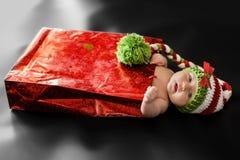 Bebé recién nacido de la Navidad Fotos de archivo