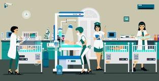 Bebé recién nacido del sitio libre illustration