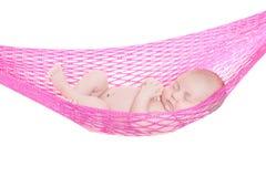 Bebé recién nacido dormido Imágenes de archivo libres de regalías
