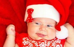 Bebé recién nacido dulce en las Navidades Fotos de archivo libres de regalías