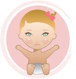 Bebé rubio Fotografía de archivo