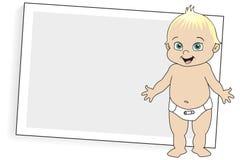 Bebé rubio en pañal Fotos de archivo libres de regalías
