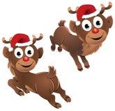 Bebé Rudolph el salto del reno Fotografía de archivo