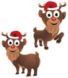 Bebé Rudolph las actitudes del reno dos stock de ilustración