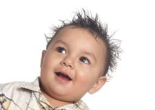 Bebé selvagem adorável do cabelo Fotografia de Stock