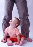 Bebé sobre blanco Fotos de archivo libres de regalías