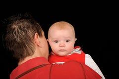 Bebé sobresaltado fotografía de archivo